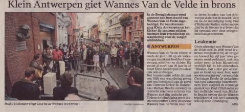 perstest1 479x219 Klein Antwerpen giet Wannes Van de Velde in Brons